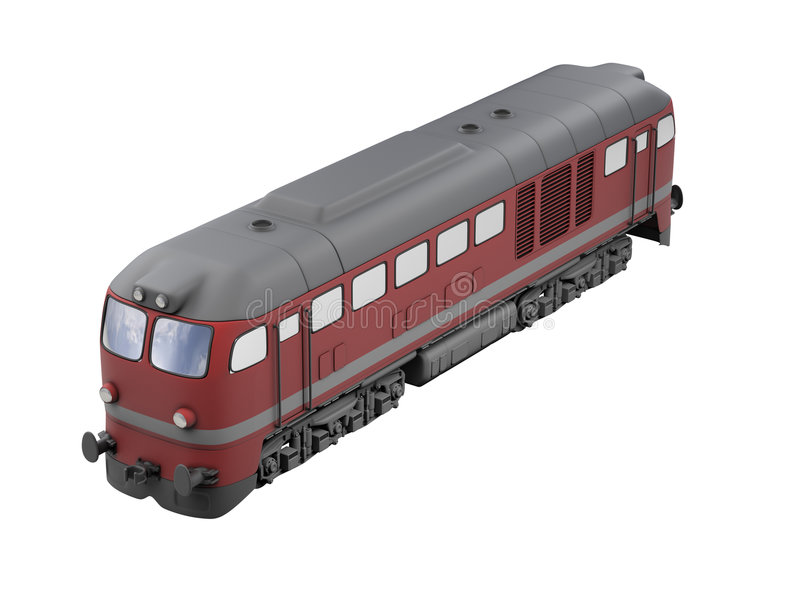 Tren rojo sobre blanco libre illustration