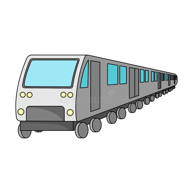 Tren, solo icono en estilo de la historieta Tren, web del ejemplo de la acción del símbolo del vector stock de ilustración