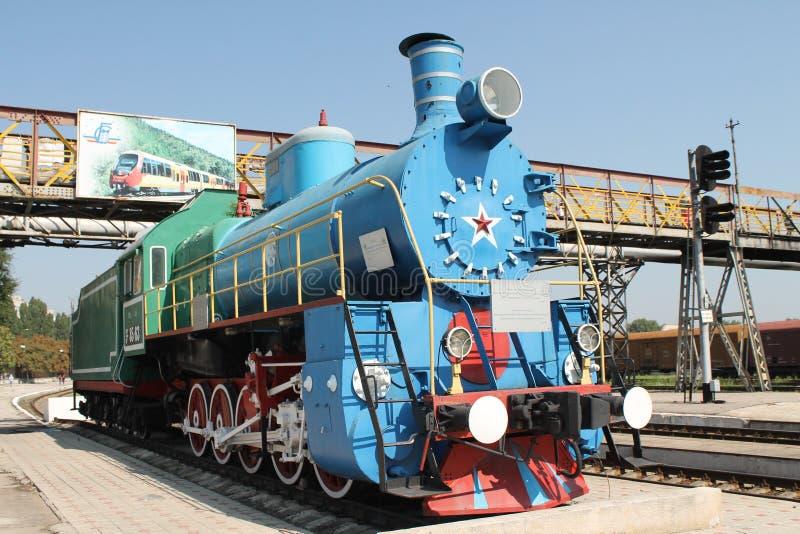 Tren soviético viejo del vapor imagenes de archivo
