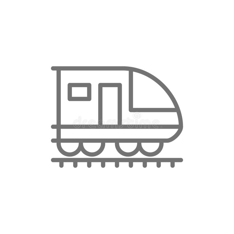 Tren, subterráneo, locomotora, línea de ferrocarril icono ilustración del vector