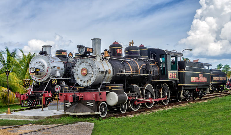 Tren turístico del azúcar, Santa Clara, Cuba imagen de archivo