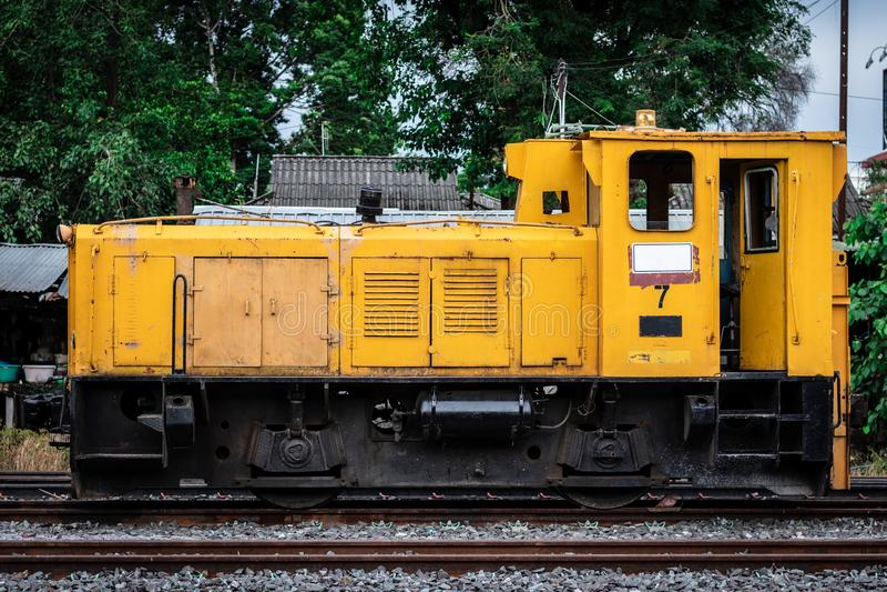 Tren viejo abandonado fotos de archivo