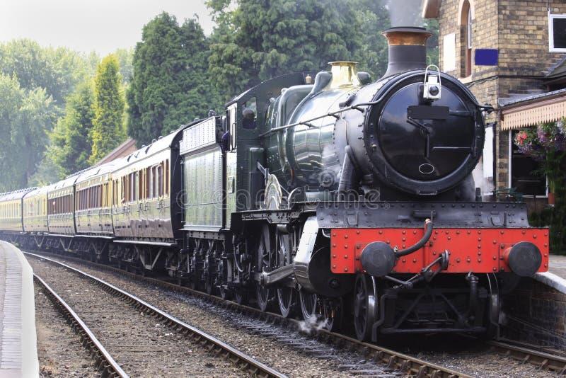 Tren viejo del vapor fotografía de archivo