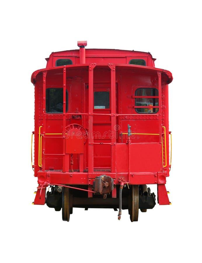 Tren viejo rojo imagenes de archivo
