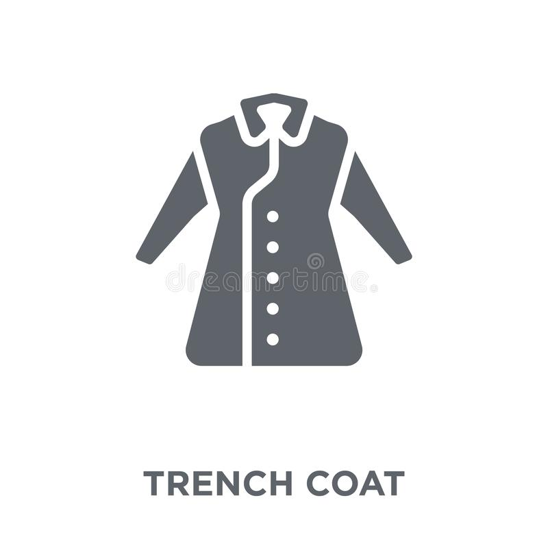 Trench Coat icon from collection. stock illustration