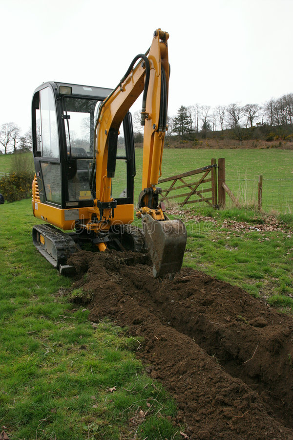 Download Trench Digger stock image. Image of field, yellow, hole - 760923
