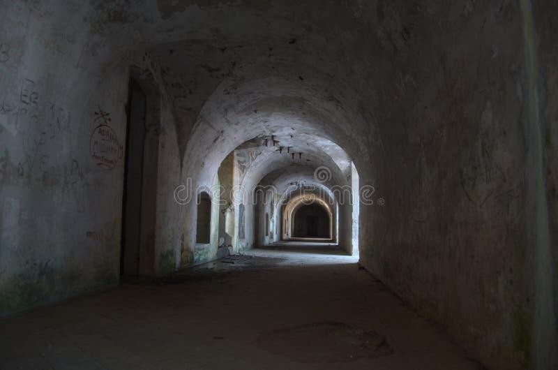 Trench of the WWI, Mountain Enna - Veneto, Italy. Internal of a trench of WWI in Veneto, Italy royalty free stock photo