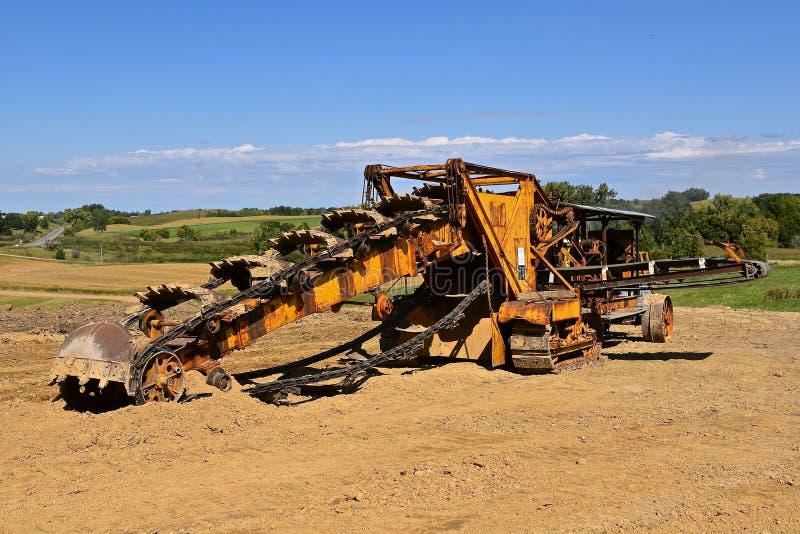 Trencher antigo para escavar, imagem de stock royalty free