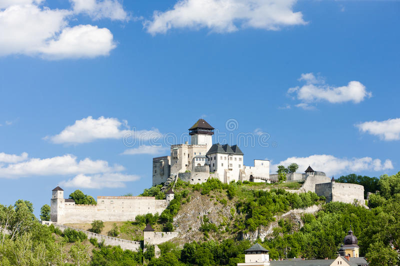 Trencin Castle stock photo