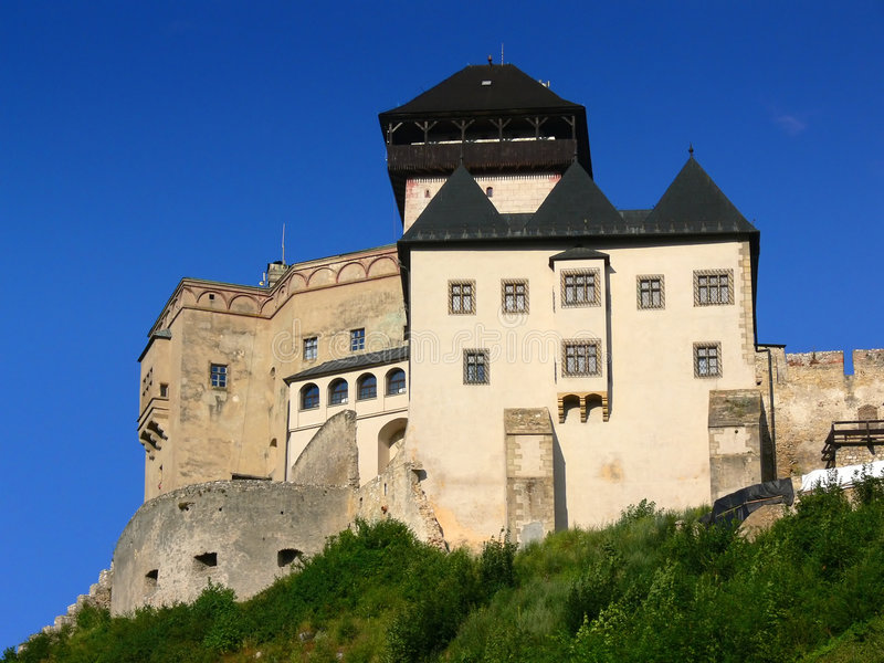 Trencin castle royalty free stock photography