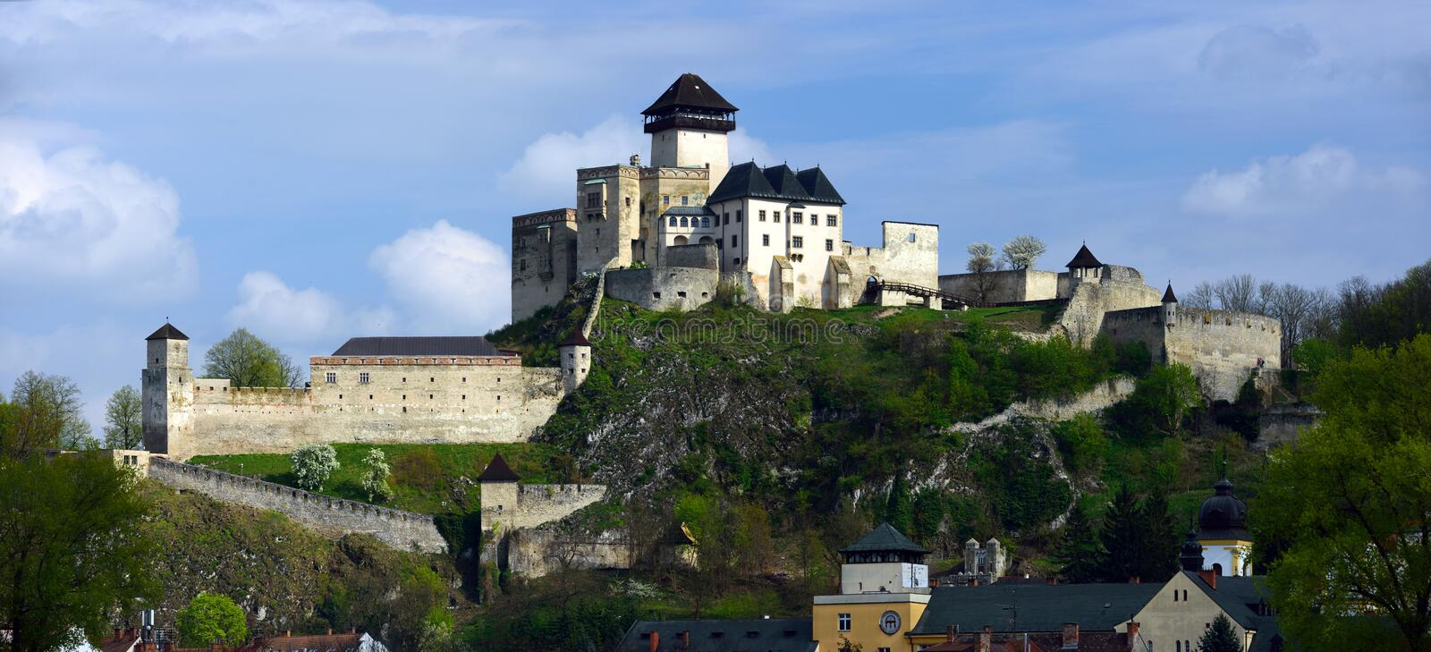 Trencin Castle, Slovakia. Historical monument of beautiful Trencin castle - Slovakia stock image