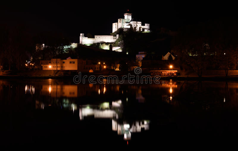 Trencin Castle, Slovakia royalty free stock photos