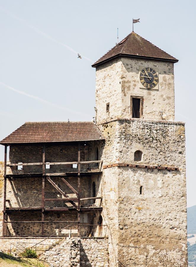 Trencin castle, Slovakia, travel destination royalty free stock photo