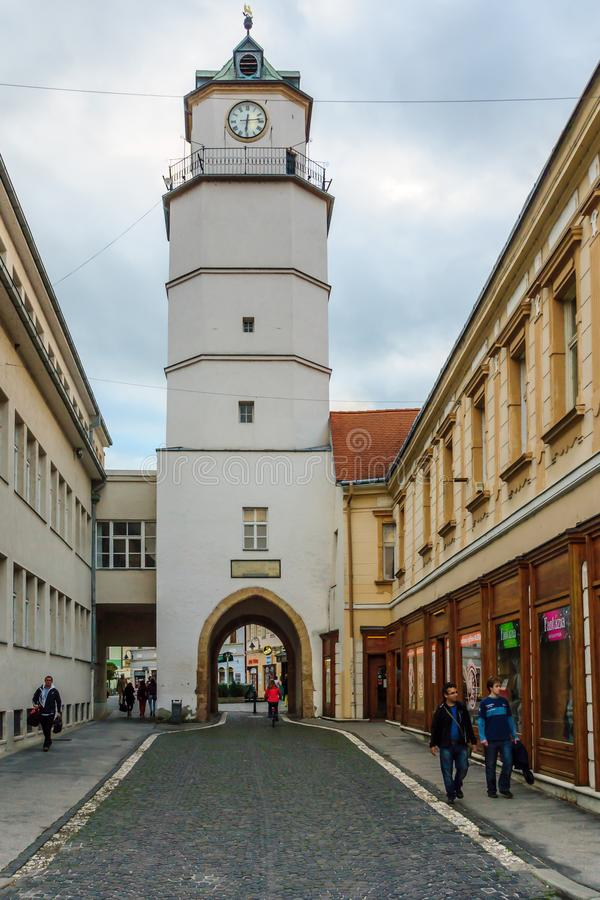 City tower, in Trencin stock image