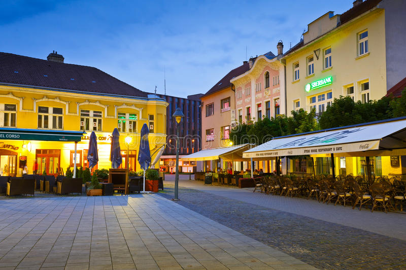 Trencin, Slovakia. Square in the old town of Trencin, Slovakia stock image