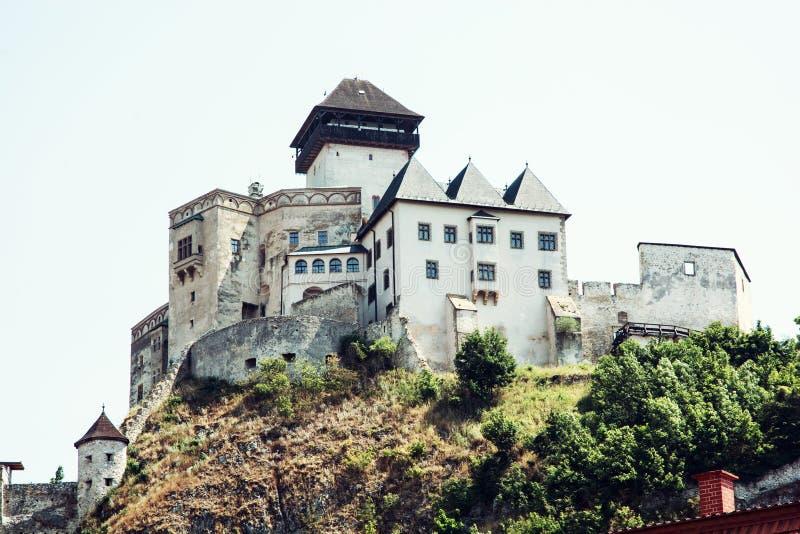 Trencinkasteel, Slowakije royalty-vrije stock foto