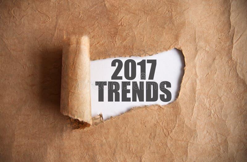 2017 trendów odkrywających zdjęcie royalty free