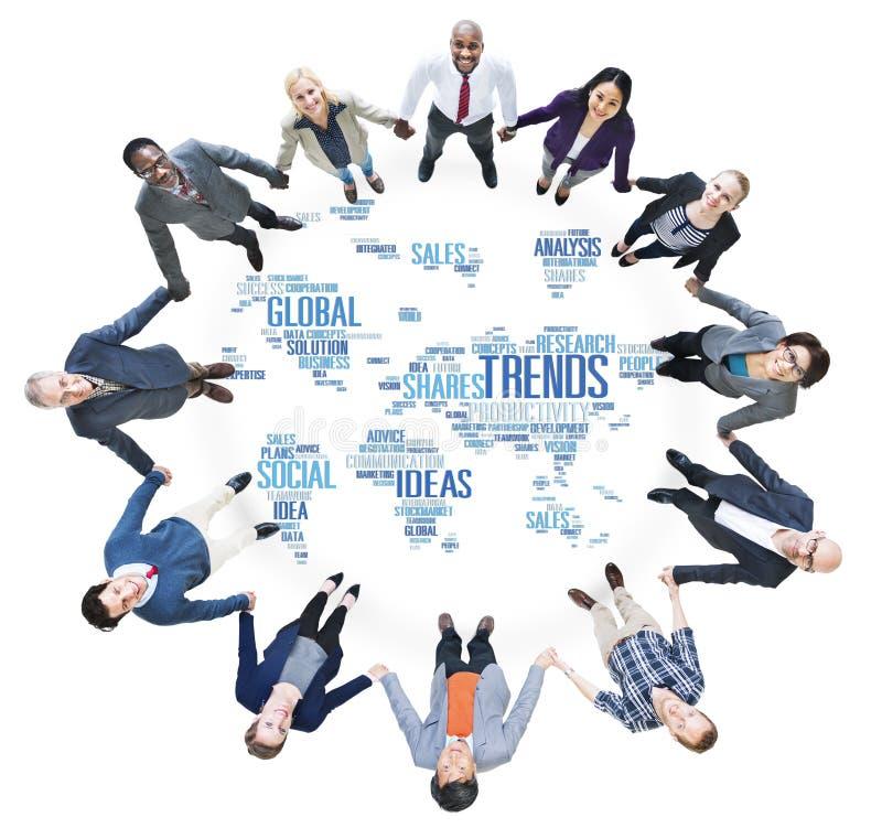 Trend Światowej mapy pomysłów socjalny stylu Marketingowy pojęcie zdjęcie royalty free