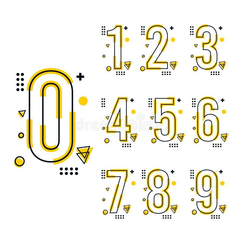 Trend liczby projekta szablon ilustracji