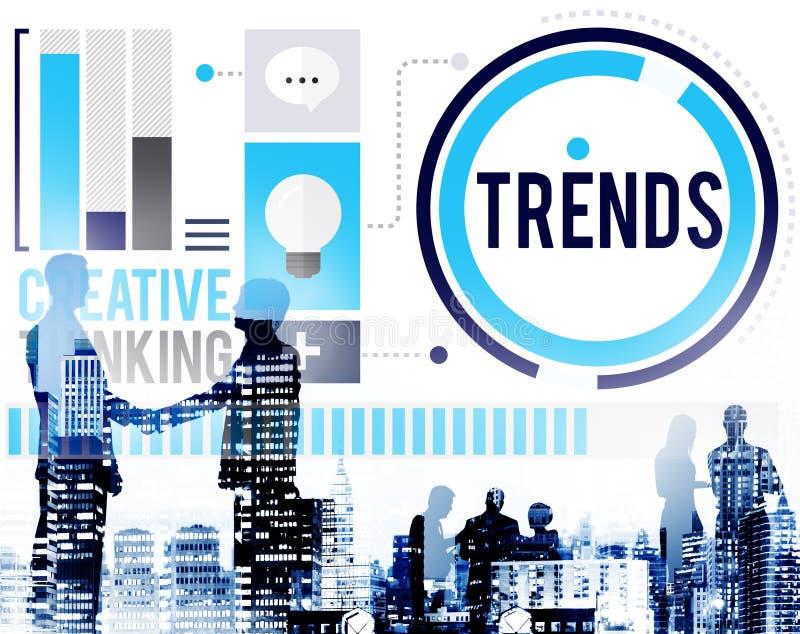 Trend mody Marketingowy Współczesny Wykazywać tendencję pojęcie obraz stock