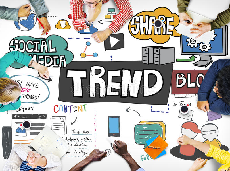 Trend Trendy Design Modern Style Fashion Latest Concept.  royalty free stock photography