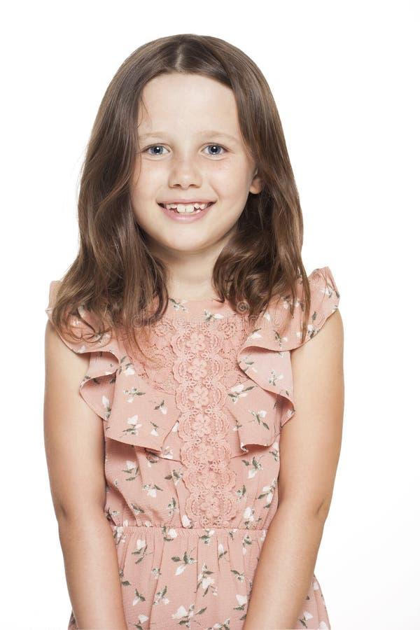 Trendig brunettflicka royaltyfri fotografi