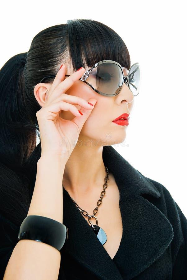 trendig flicka royaltyfri fotografi
