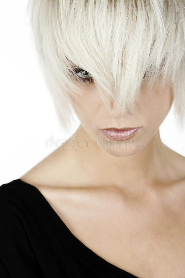 Kvinna med blont hår arkivfoton