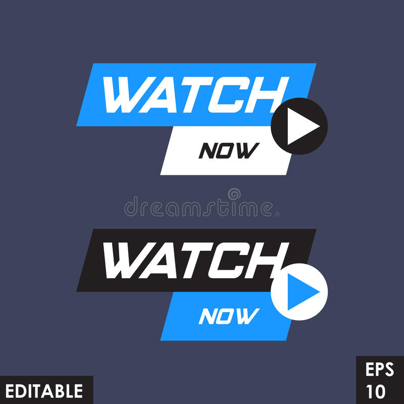 Trending material asset for online video at internet broadcasting, in flat vector design element with play button template. Source design for video blog user for royalty free illustration