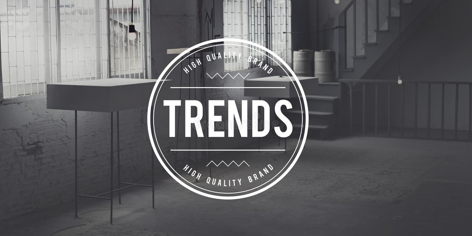 Trends Fashion Marketing Modern New Style Hot Concept royalty free stock photos