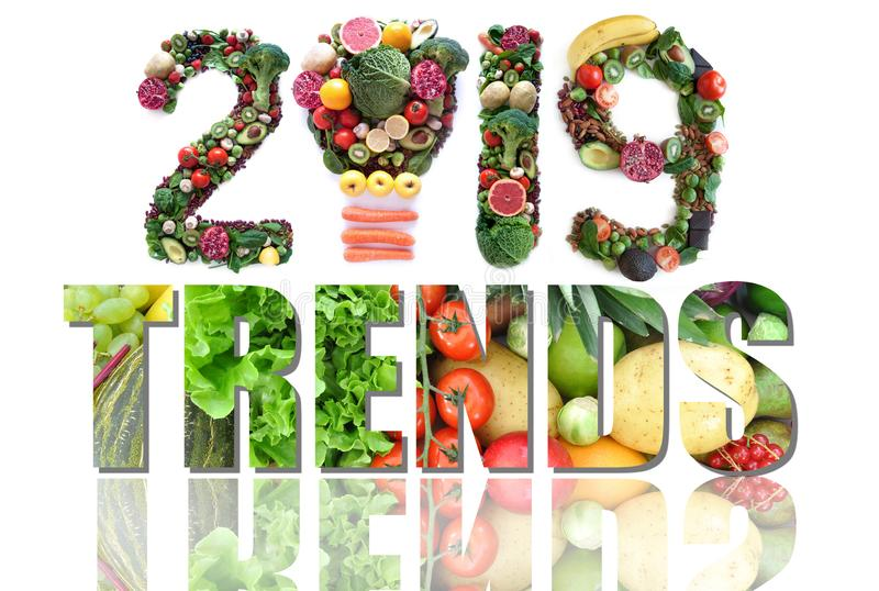2019 food and health trends stock photography