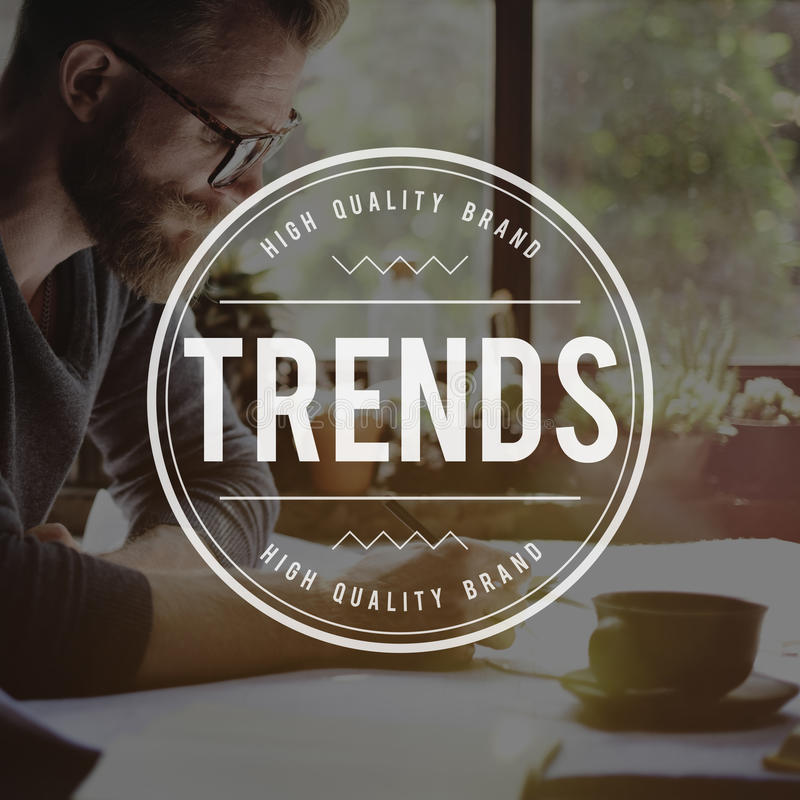 Trends Trending Style Fashion Design Trendy Concept. Trends Style Fashion Design Concept royalty free stock image
