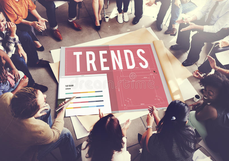Trends Trendy Design Modern Style Concept.  royalty free stock photo