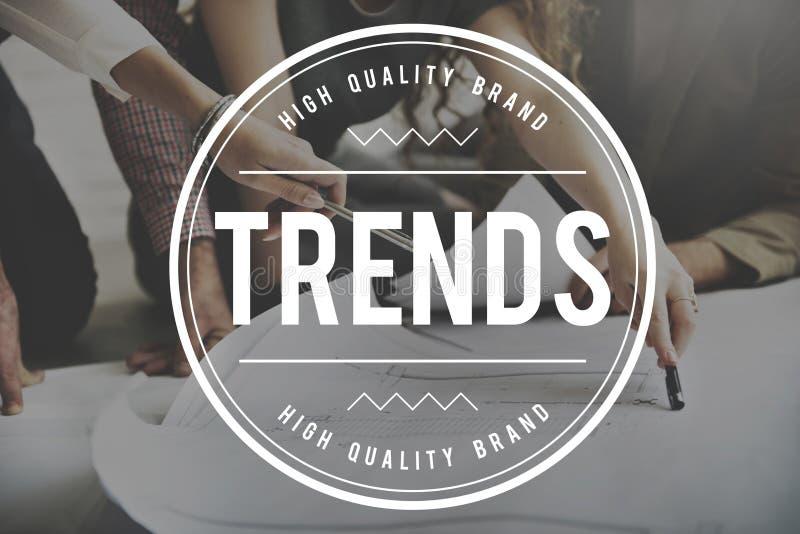 Trends Trendy Design Modern Style Concept. Trends Trendy Design Modern Style stock photos