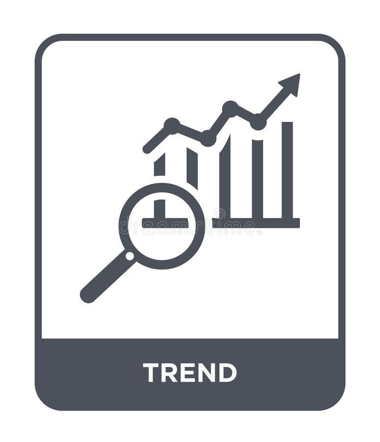 trendsymbol i moderiktig designstil trendsymbol som isoleras på vit bakgrund enkelt och modernt plant symbol för trendvektorsymbo vektor illustrationer