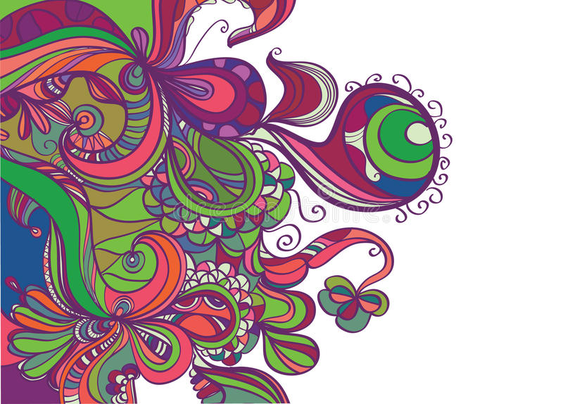 Download Trendy Abstract Border Design Stock Illustration - Illustration of doodle, retro: 12548056