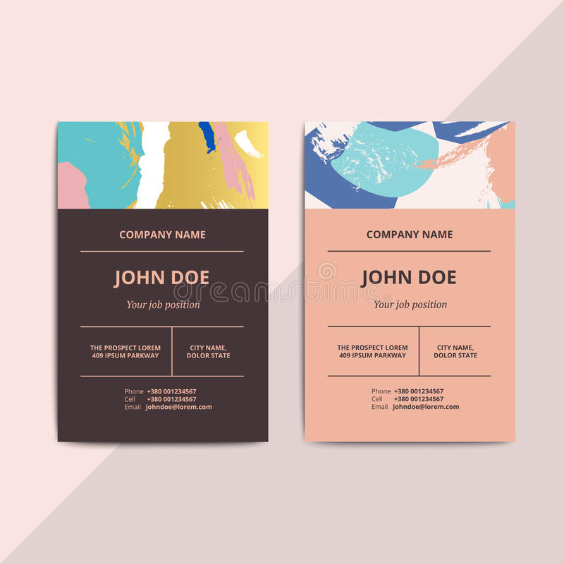 Trendy Abstract Business Card Templates. Modern Luxury Beauty Sa ...