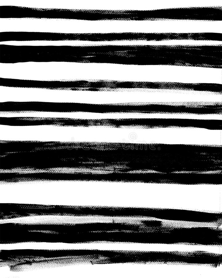 Trendy Abstract Interior Poster. Hand Drawn Stripes on White Background. royalty free illustration