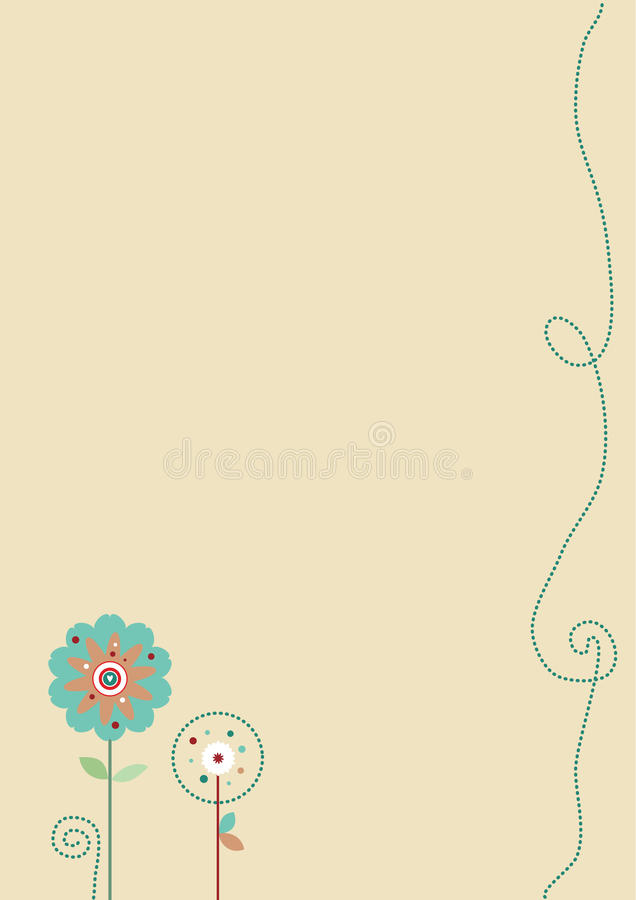 Trendy Achtergrond van Bloemen stock illustratie