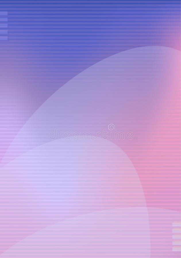 Trendy modern background template with lines gradient pink blue violet colors and abstract shapes flow. Vector modern poster, card stock illustration