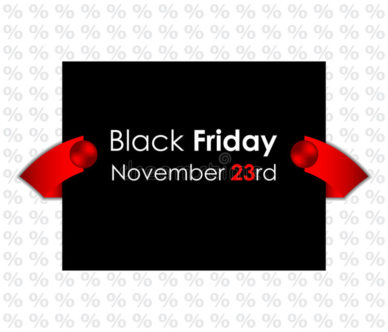 Trendy Black Friday Banner Royalty Free Stock Photos