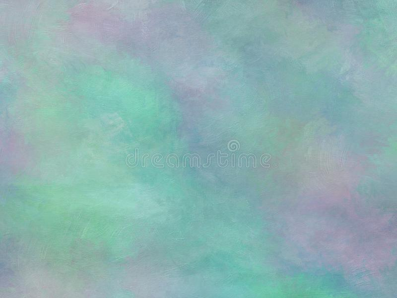 Trendy blue purple green colorful paint textured abstract background design stock illustration