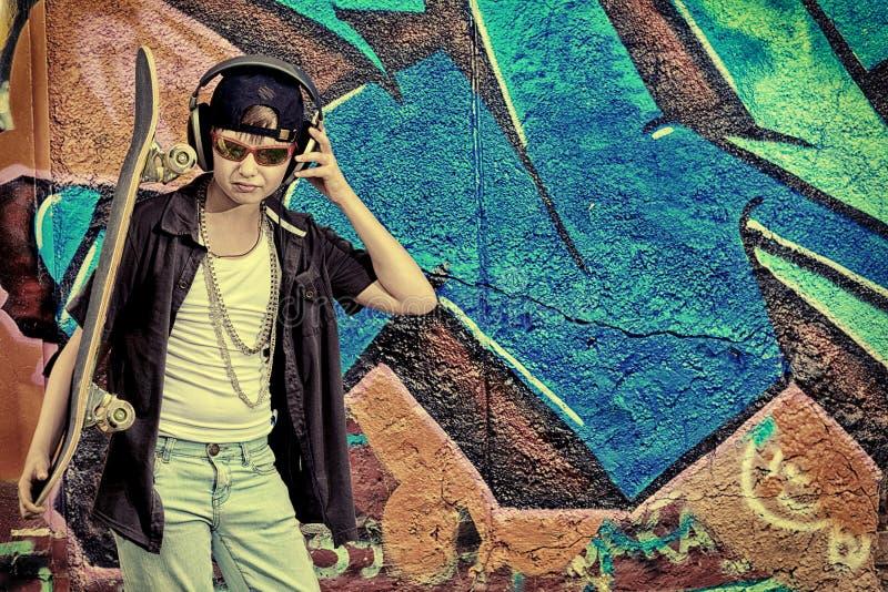 Trendy boy stock photo