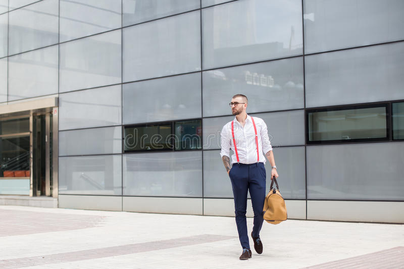 Trendy businessman royalty free stock photography