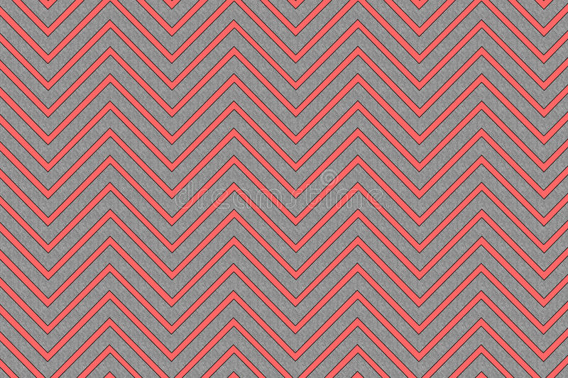 Trendy Chevron Pattern Red And Grey Stock Illustration Image