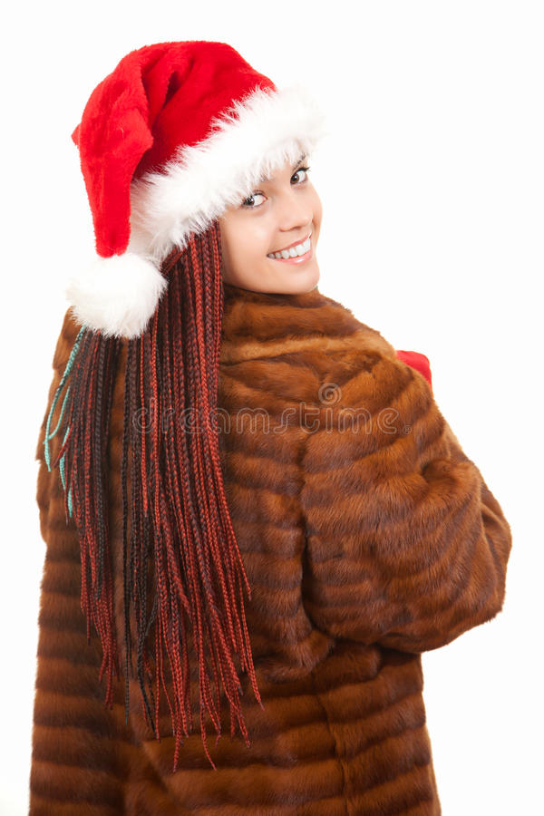 Download Trendy Christmas Girl With Plait Braids In Fur Coa Stock Photo - Image of beauty, caucasian: 26433712