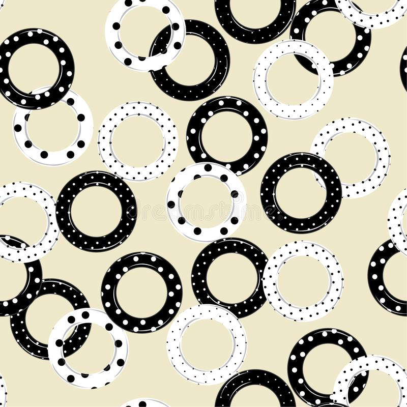Trendy circle fill in with polka dots pattern seamless pattern v. Ector in modern style for fashion,fabric and all prints royalty free illustration