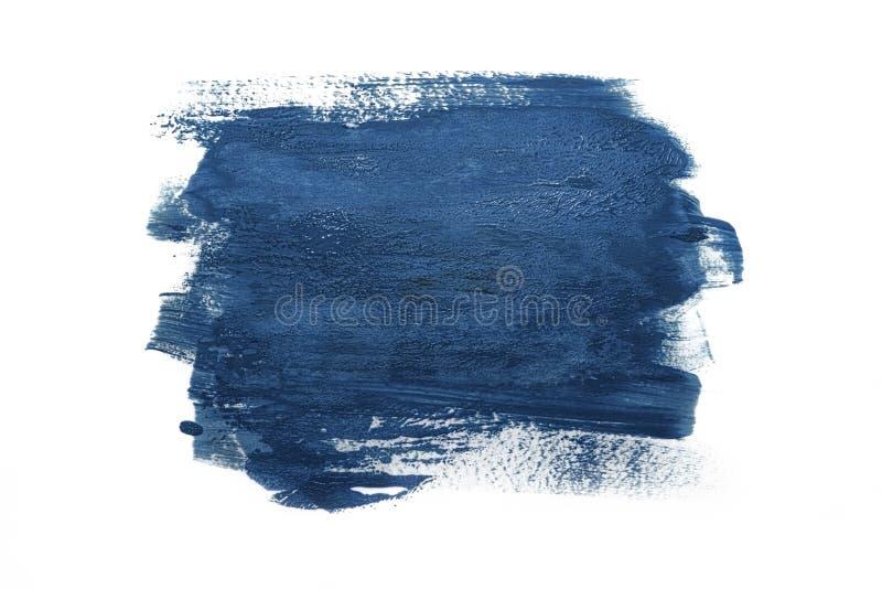 Trendy Color του 2020 κλασικό μπλε Δείγμα κλασικού μπλε χρώματος σε λευκό απομονωμένο φόντο Υφή του μπλε χρώματος ελεύθερη απεικόνιση δικαιώματος