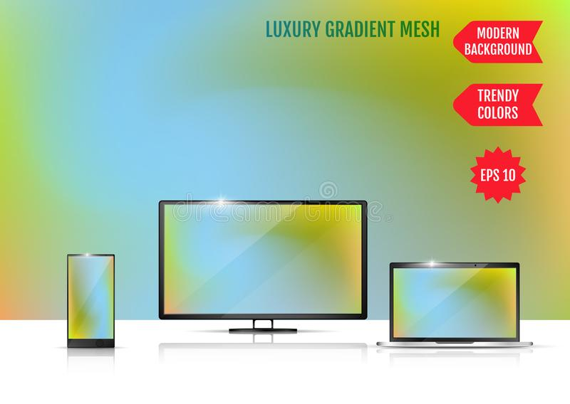 Trendy colorful abstract background. Gradient mesh. Modern Luxury concept. Abstract Cover. An example of the use of the proposed. Background on the screen of a vector illustration