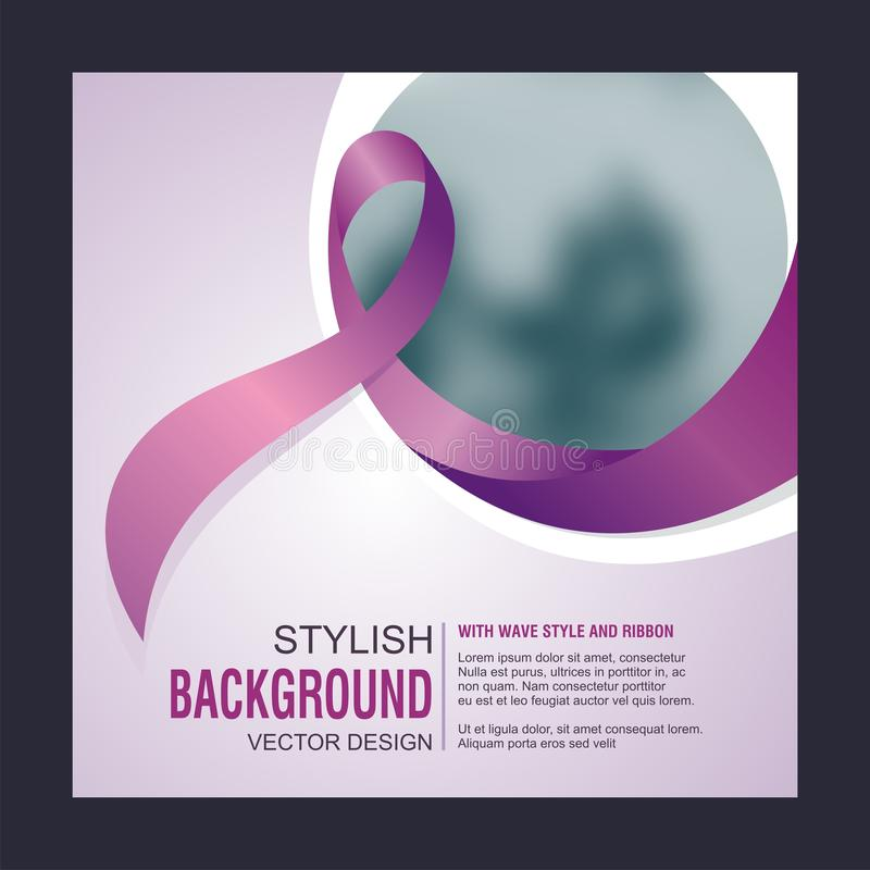 World Cancer or Aid Day concept layout poster template stock photography